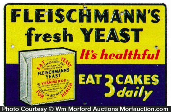 Fleischmann's Fresh Yeast Sign