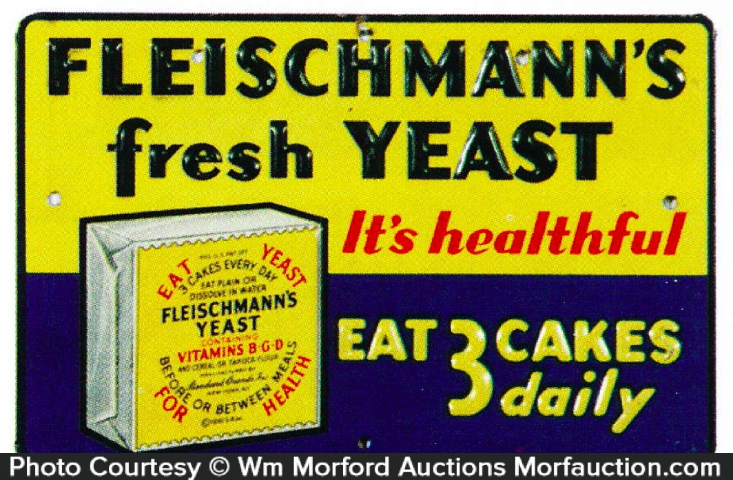 Fleischmann's Fresh Yeast Sign