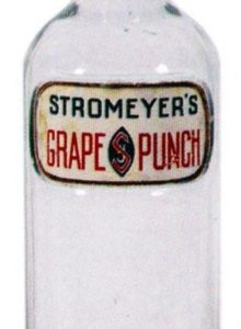 Stromeyer's Grape Punch Syrup Bottle