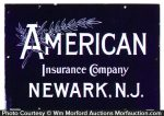 American Insurance Porcelain Sign