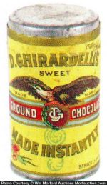 Ghirardelli's Ground Chocolate Tin Sample