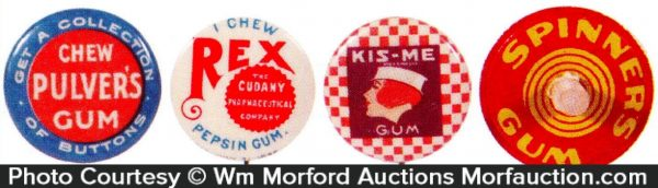 Chewing Gum Pins & Tops