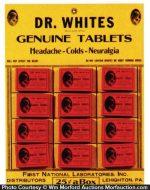 Dr. Whites Tablets Display