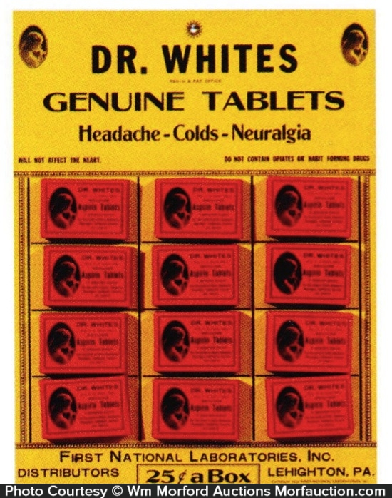 Dr. Whites Tablets Display