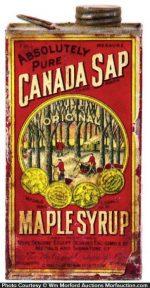 Canada Sap Maple Syrup Tin