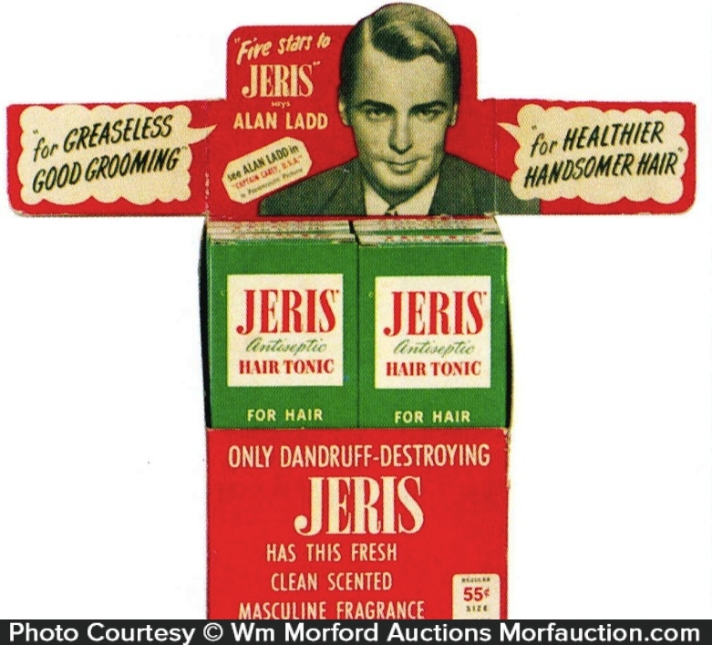 Alan Ladd Jeris Hair Tonic Display