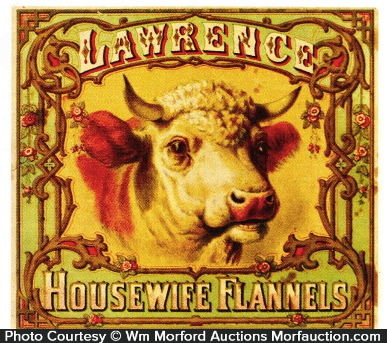 Lawrence Housewife Flannels Label