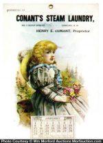 Conant's Steam Laundry Calendar