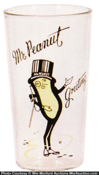 Planters Mr. Peanut Glass