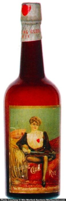 Fencing Club Rye Whiskey Bottle