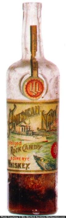 American Navy Whiskey Bottle