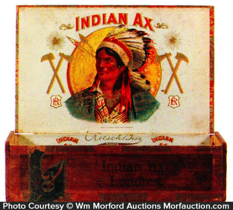 Indian Ax Cigar Box