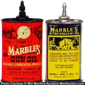 Marble's Gun Oil Tins