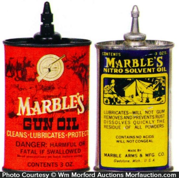 Antique Advertising Marble S Gun Oil Tins Antique