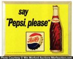 Say Pepsi Please Sign