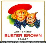 Buster Brown Dealer Sign