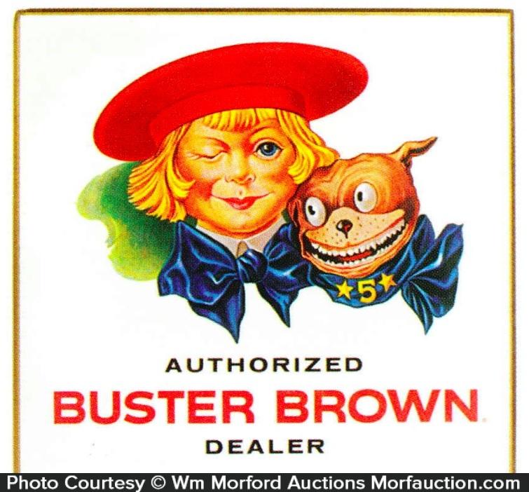 Buster Brown Dealer Sign