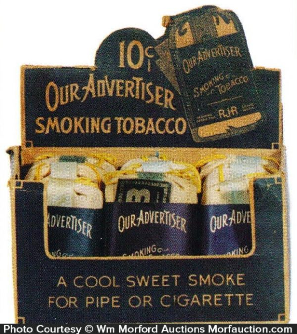 Antique Advertising Our Advertiser Tobacco Display