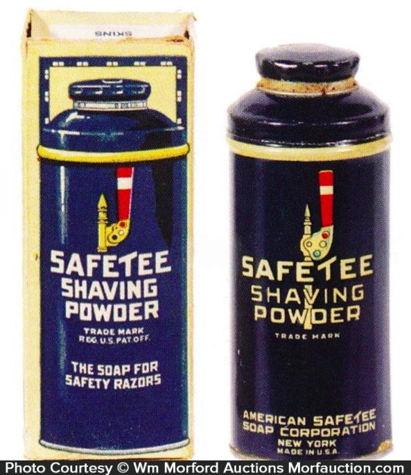 Safetee Shaving Powder Tin