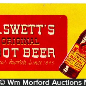 Dr. Swett's Root Beer Sign