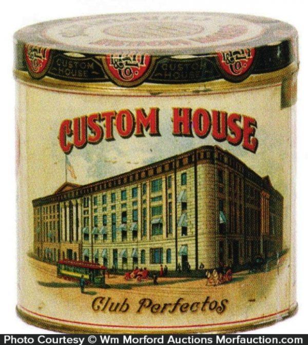 Custom House Cigar Can