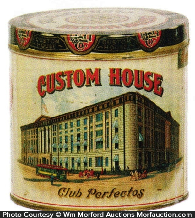 Custom House Cigar Can