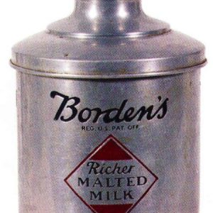 Borden's Malted Milk Can