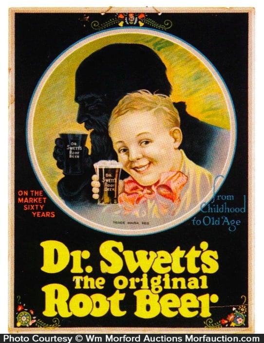 Dr. Swett's Original Root Beer Sign