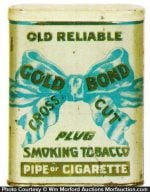 Gold Bond Cross Cut Tobacco Tin