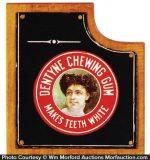 Dentyne Gum Porcelain Sign