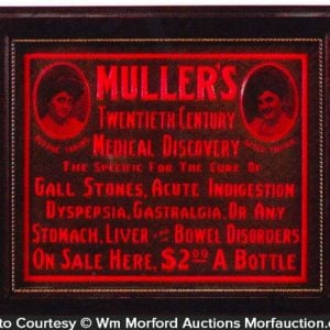 Muller's Medicine Sign