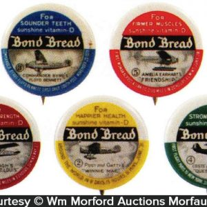 Bond Bread Airplane Pins