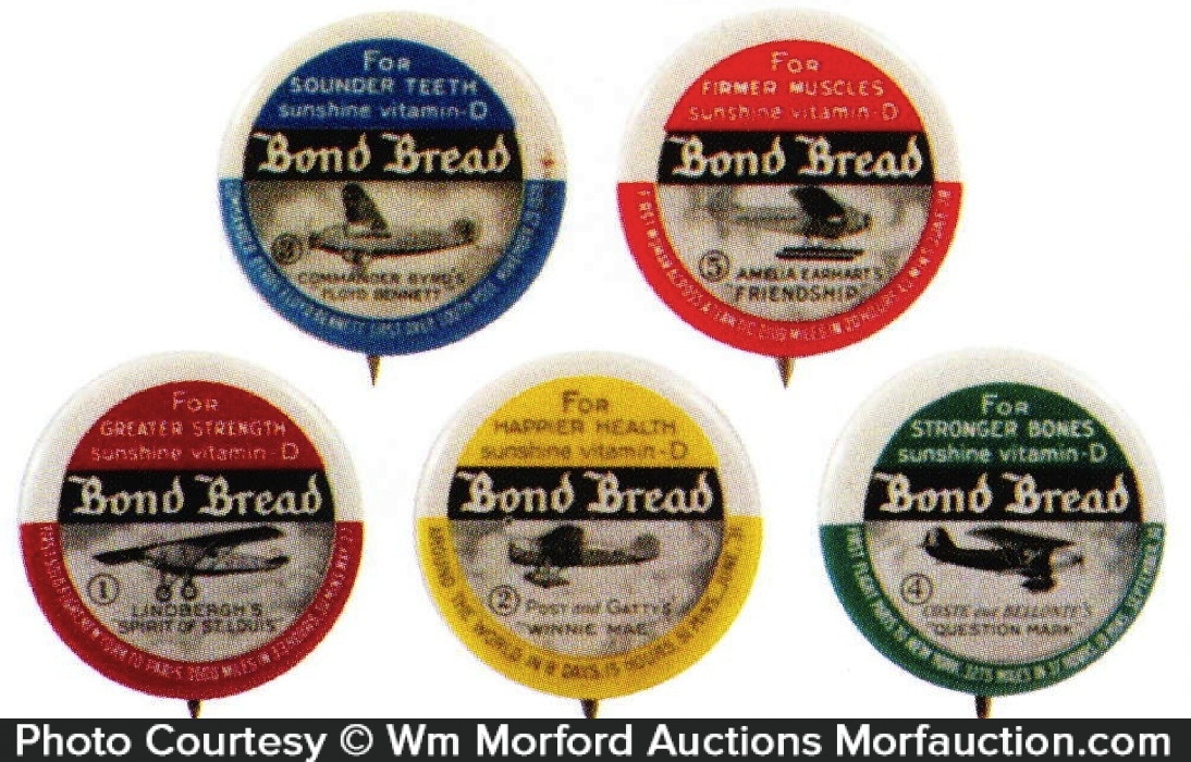 Bond Bread Airplane Pins