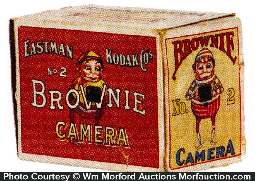 Kodak Brownie Camera Box Antique Advertising