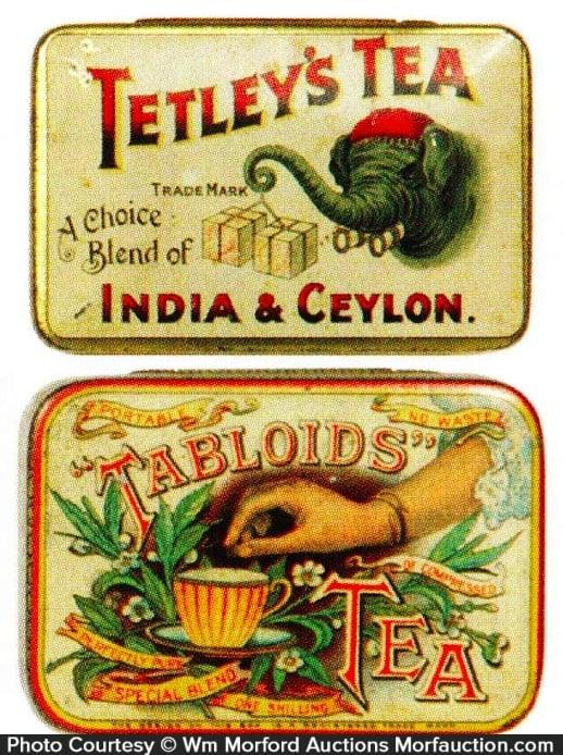 Antique Advertising Vintage Tea Tins