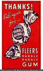 Dubble Bubble Gum Sign