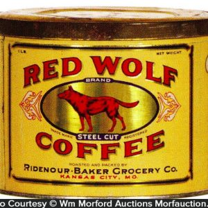 Red Wolf Coffee Can