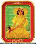 Yellow Dress Coke Tray