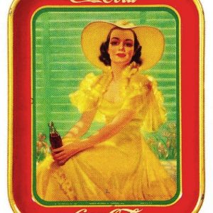Yellow Dress Coke Tray