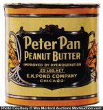 Peter Pan Peanut Butter Tin Can