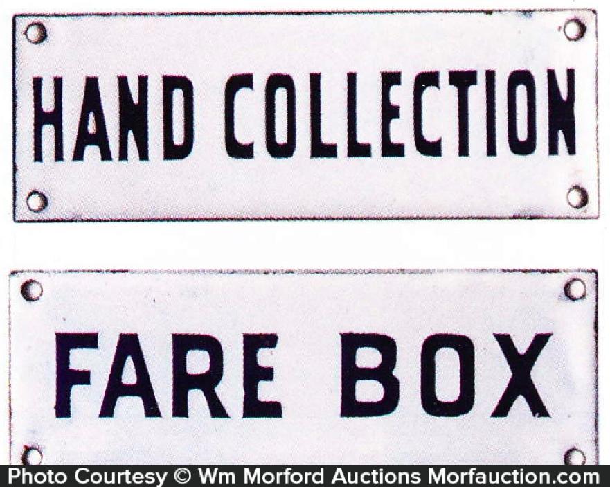 Fare Box Sign