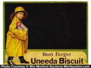 Uneeda Biscuit Sign