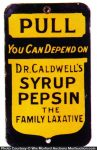Dr. Caldwell Syrup Pepsin Door Push