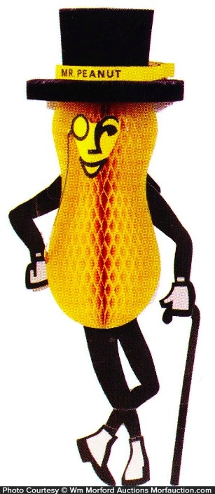 Mr. Peanut Hanging Display