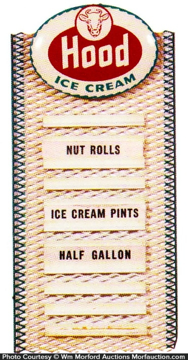 Hood Ice Cream Menu Sign