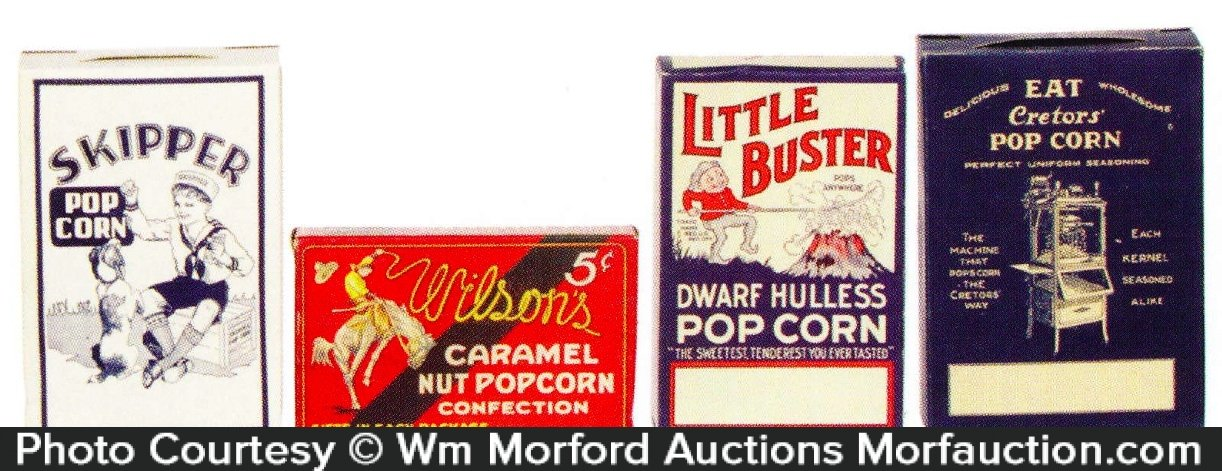 Vintage Pop Corn Boxes