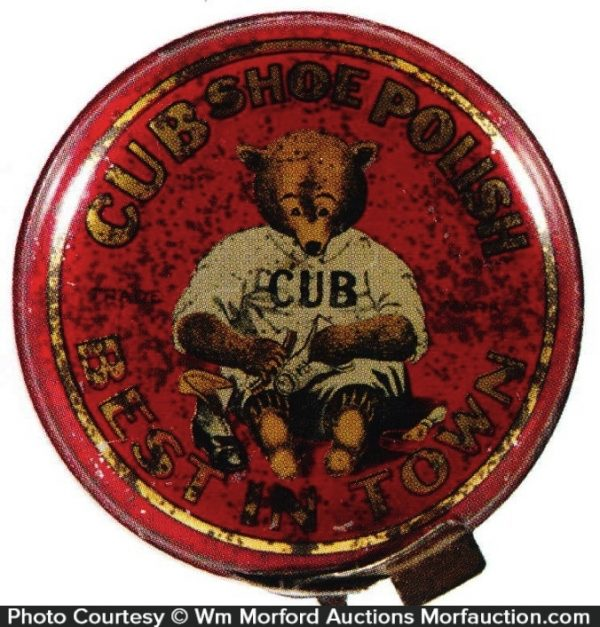 Cub Shoe Polish Tin