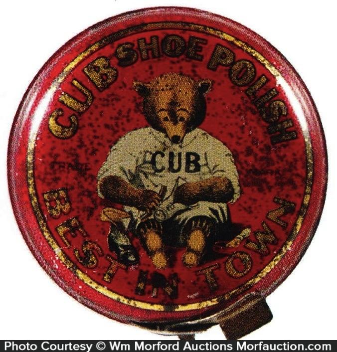Cub Shoe Polish Tin