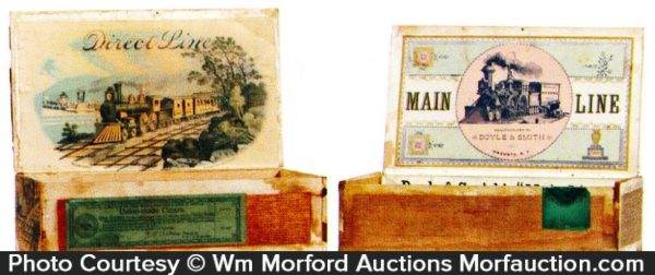 Railroad Cigar Boxes