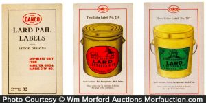 Canco Lard Pail Labels Catalog